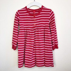 Hanna Andersson Red & Pink Striped Dress